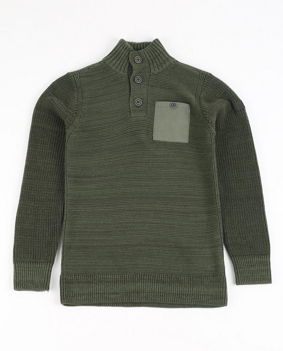 Pullover aus Biobaumwolle - in Moosgrün, I AM - I AM